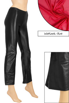 Damen Wetlook Jazzpant rot