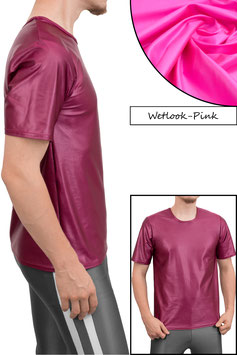 Herren Wetlook T-Shirt Comfort Fit pink