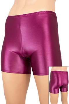 Herren Wetlook Hotpant bordeaux