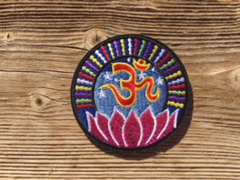 OM / Lotusblume Patches Aufnäher