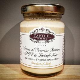 Crema al Pecorino Romano DOP & Tartufo Nero, schwarze Trüffel & Pecorino Romano Creme