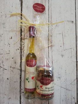 Parmesan auf Olivenöl & Bruschetta Quattro Formaggi Gewürzmischung