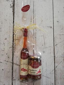 Chili auf Olivenöl & Bruschetta Diavolo Gewürzmischung