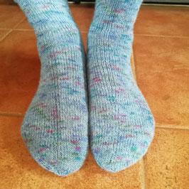Socken handgestrickt * Größe 40/41 * blau meliert