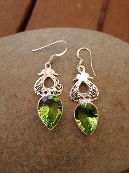 Ohrhänger Silber & Quarzkristall grün VI