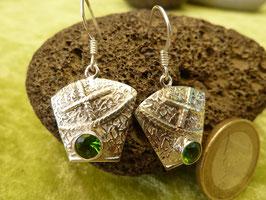 Ohrhänger Silber & Peridot (Olivina)