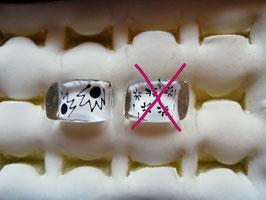 """Kunststoff-Ring """"schwarz & weiß"""""""