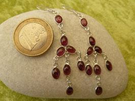 Ohrhänger Silber & Turmalin rot-lila