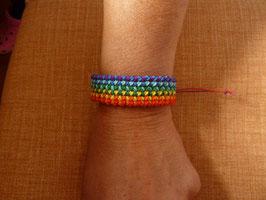Makramee-Armband Rainbow - Breite 2,0 cm