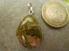 Kettenanhänger Silber & Unakit