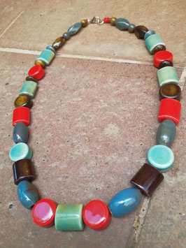 Halskette Keramik * Mustermix Bunt