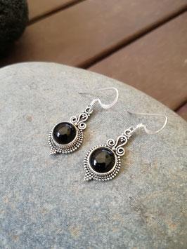 Ohrhänger Silber & Onyx VII