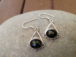 Ohrhänger Silber & Onyx VI