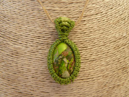 Makramee-Kettenanhänger Jaspis grün