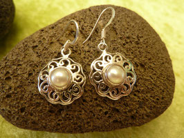Ohrhänger Silber & Perle III
