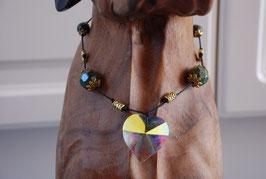 Hundekette Glas & Verdit