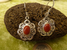 Ohrhänger Silber & Koralle I