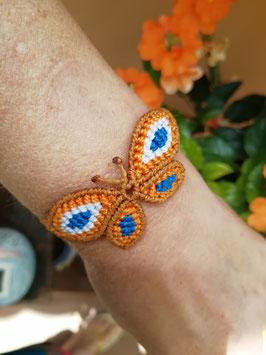 Makramee-Armband - Schmetterling