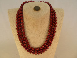 Perlencollier 3-Reiher rot
