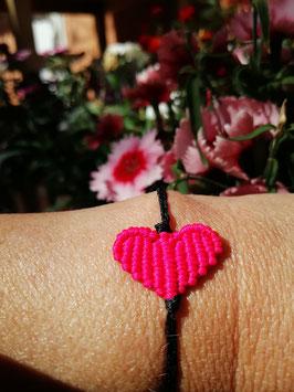 Makramee-Armband - Herz