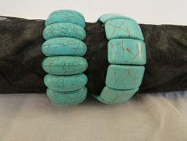 Armband Howlith blau