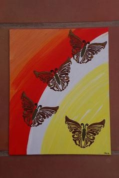 Schmetterlinge im Sonnenuntergang