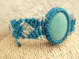 Armband Makramee mit Howlith blau