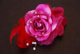 Anstecknadel - Rose mit Strass