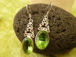 Ohrhänger Silber & Quarzkristall grün V