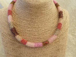 Rocailles-Afrika-Halskette rosa