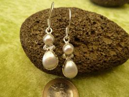 Ohrhänger Silber & Perle II