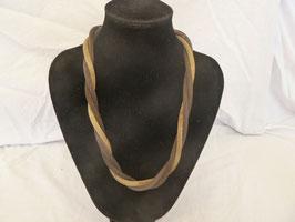 Magnet-Schlauchkette braun-gold