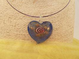Glas-Kettenanhänger Herz