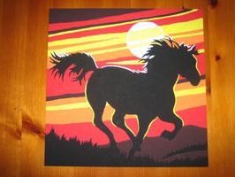 Pferd im Sonnenuntergang