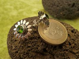 Ohrstecker Silber & Quarzkristall grün