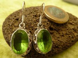 Ohrhänger Silber & Quarzkristall grün III