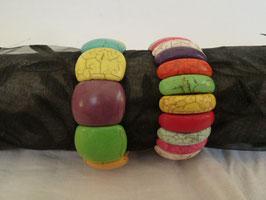 Armband Howlith mehrfarbig