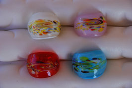 "Glas-Ring ""klare Farben, zarte Wirbel"""