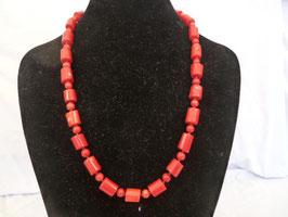 Halskette Bambuskoralle Tonnen & Perlen