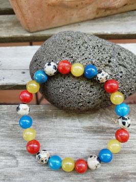 Armband in 4 Farben * Koralle, Achat & Dalmatin