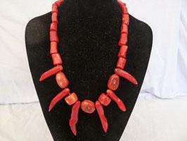 Halskette Bambuskoralle Mustermix mit Zacken