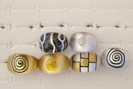 """Kunststoff-Ring """"gold & silber oval"""""""