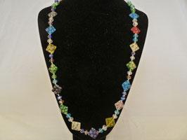 bunte lange Halskette Millefiori