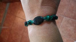Makramee-Armband Lava & Halbedelstein