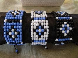Rocailles-Webe-Armband - Blumen-Salino