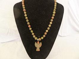lange Halskette / Rosenkranz mit Engel
