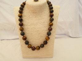 Halskette Tigerauge & Bronze-Tigerauge