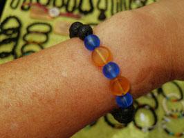 Armband Lava & Glas 2-farbig