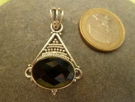 Kettenanhänger Silber & Onyx VI