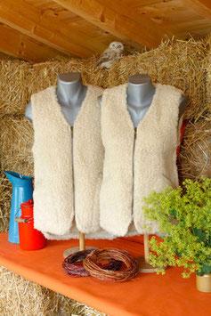 Wollflorweste kurz ohne Taschen
